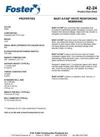 Foster 42-24 MAST-A-FAB Membrane.pdf