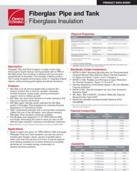 OC Fiberglas Pipe and Tank Insulation Product Data Sheet.pdf