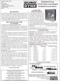 Duro Dyne Hinged YDAD Yellow Label Access Doors Specs.pdf
