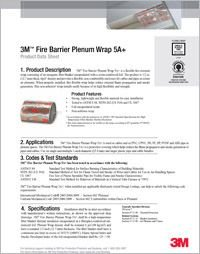 3M Fire Barrier Plenum Wrap 5A Technical Data Sheet.pdf