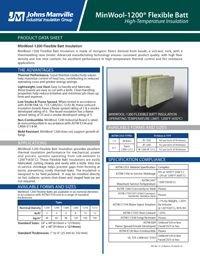 JM MinWool-1200 Flexible Batt IND-406.pdf