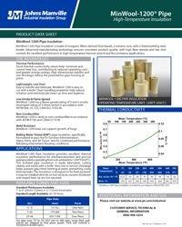 JM MinWool-1200 Pipe IND-401.pdf