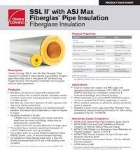 OC SSL II with ASJ Max Fiberglas Pipe Insulation Product Data Sheet.pdf