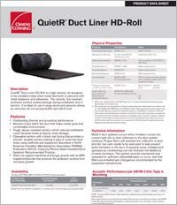 OC QuietR Duct Liner HD Roll Product Data Sheet.pdf