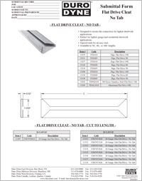 Duro Dyne Flat Drive Cleat submittal.pdf