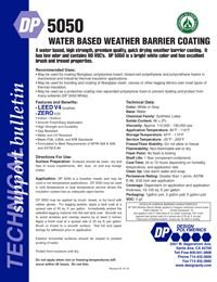 Design Polymerics DP5050 Water Based Weather Barrier Coating.pdf