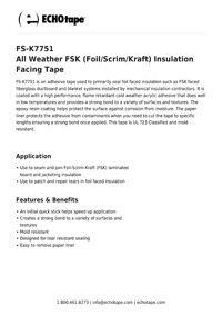 ECHOtape FS-K7751 All Weather FSK Insulation Facing Tape.pdf