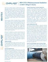 Dyplast ISO-C1 2.5 Polyisocyanurate Insulation Data Sheet.pdf