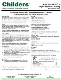 Childers CP-40 Encacel-X Vapor Retarder Coating.pdf