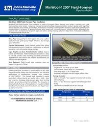 JM MinWool-1200 Field-Formed Pipe Insulation IND-420.pdf