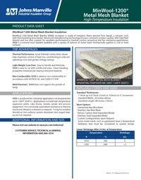 JM MinWool-1200 Metal Mesh Blanket IND-421.pdf