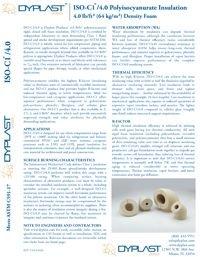 Dyplast ISO-C1 4.0 Polyisocyanurate Insulation Data Sheet.pdf