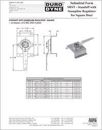 Duro Dyne SRST Standoff With Stampline Regulator  for Square Duct.pdf