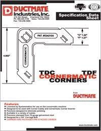 Ductmate TDC TDF Cornermatic Corners Spec Data Sheet.pdf
