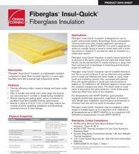 OC Fiberglas Insul-Quick Insulation Product Data Sheet.pdf