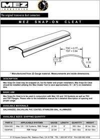 MEZ Snap-On  Cleat Spec.pdf