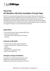 ECHOtape FS-J7754 All Weather ASJ Poly Insulation Facing Tape.pdf