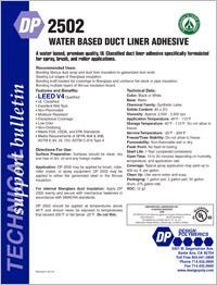 Design Polymerics DP2502 Water Based Duct Liner Adhesive.pdf