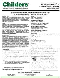 Childers CP-45 Encacel-V Vapor Barrier Coating.pdf
