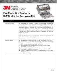 3M Fire Barrier Duct Wrap 615 Technical Data Sheet.pdf