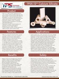 TPS TPSX 12 Calcium Silicate Data Sheet Thermal Pipe Shields.pdf