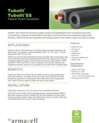 Armacell Tubolit Tubolit SS Tubular Foam Insulation.pdf