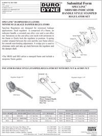 Duro Dyne Specline SRS SRHS Indicator Handle Style Stamped Regulator Set.pdf