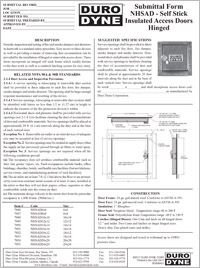 Duro Dyne NHSAD Self Stick Insulated Access Doors Hinged.pdf