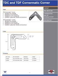 CL Ward TDC and TDF Cornermatic Corner Spec.pdf