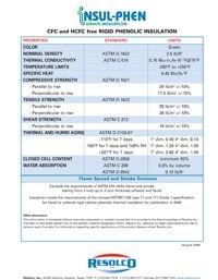 Resolco Insul-Phen CFC and HCFC Free Rigid Phenolic Insulation Data Sheet.pdf