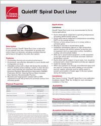 OC QuietR Sprial Duct Liner Data Sheet.pdf