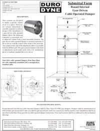 Duro Dyne Round Internal Gear Driven Cable Operated Damper GCOD submittal.pdf