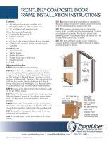 Composite Door Frame Install Instructions