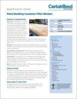 CertainTeed_Metal Building Insulation Filler Blanket_30-27-025_Product Data Sheet