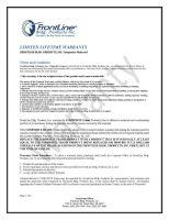 Composite Frame Limited Lifetime Warranty