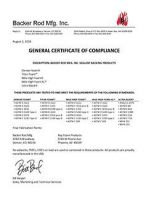 General Certificate of Compliance