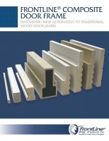 FrontLine Composite Frame Sell Sheet
