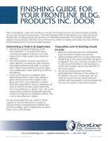 FrontLine Door Finishing Guide