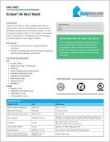 Knauf Eclipse Air Duct Board Data Sheet