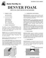 Denver Foam Tech Data