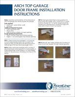 Arch Top Garage Door Frame Installation Instructions