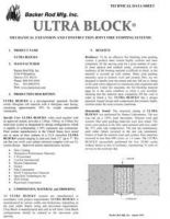 Ultra Block Tech Data