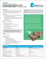 Knauf Elevated Temp Batt And HD Blanket Data Sheet