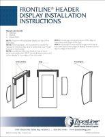 FLB Header Display Install Instructions