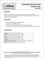 ECHOtape_Cold Weather Double Coated Polyester Tape-DC-M155A_TechDataSheet.pdf