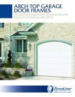 Arch Top Garage Door Frame Sell Sheet