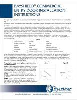 BayShield Commercial Entry Door Installation Instructions